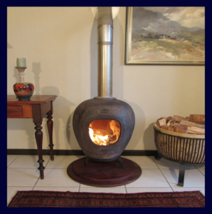Freestanding Fire-Clay Fire Place