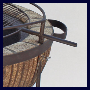 Boma Fire-Pit 610 Stripe with Accessories