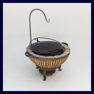 Boma Fire-Pit 730 Stripe with Accessories