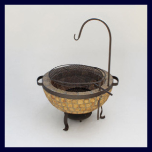 Boma Fire-Pit 730 Mosaic with Accessories