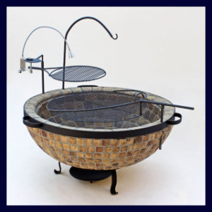 Boma Fire Pit 1100 Mosaic With Accessories.